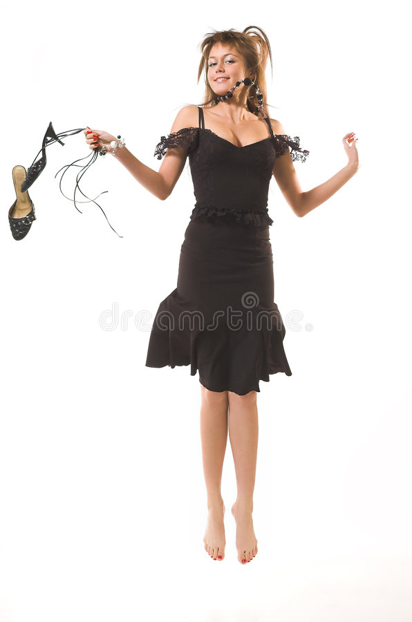 szczęśliwi skoków piękno fotografia royalty free