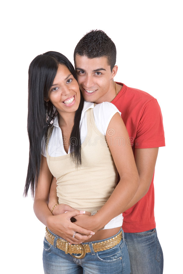 szczęśliwi uśmiechnięci młodych par zdjęcia royalty free