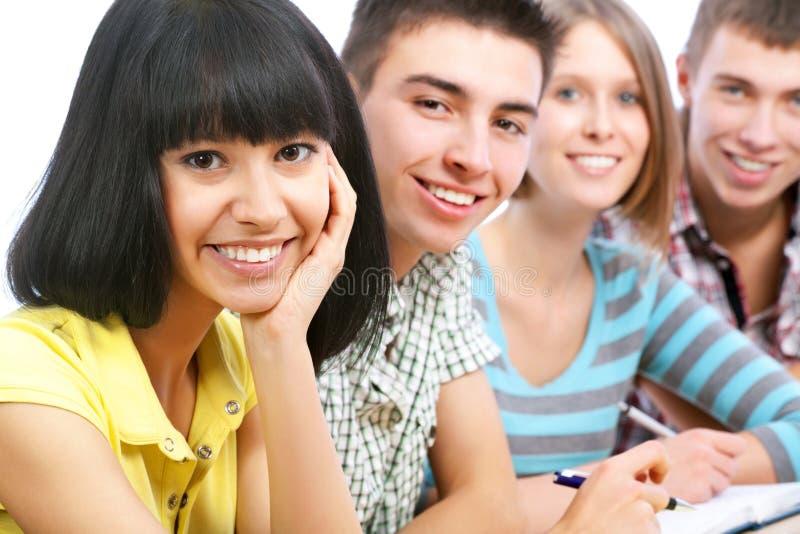 Szczęśliwi ucznie obrazy stock