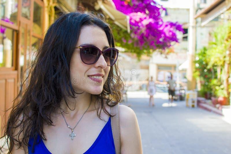 Szczęśliwi wakacje w Crete fotografia royalty free