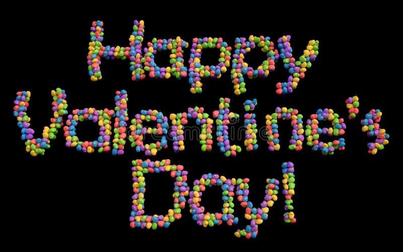 Szczęśliwi walentynka dnia balony, multicolor. royalty ilustracja