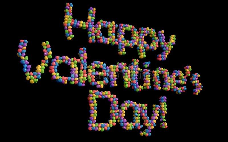 Szczęśliwi walentynka dnia balony, multicolor. ilustracji