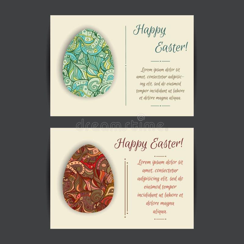 Szczęśliwi Wielkanocnej karty szablony ilustracja wektor