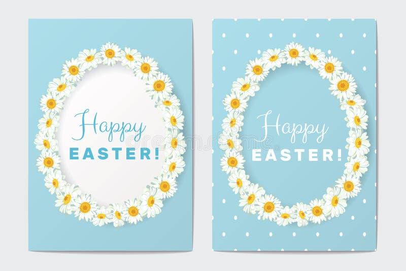 Szczęśliwi Wielkanocni kartka z pozdrowieniami Ustawiający również zwrócić corel ilustracji wektora royalty ilustracja