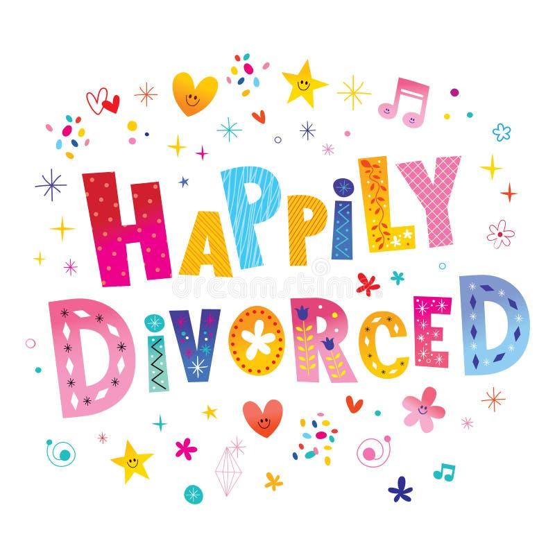 Szczęśliwie rozwiedziony royalty ilustracja