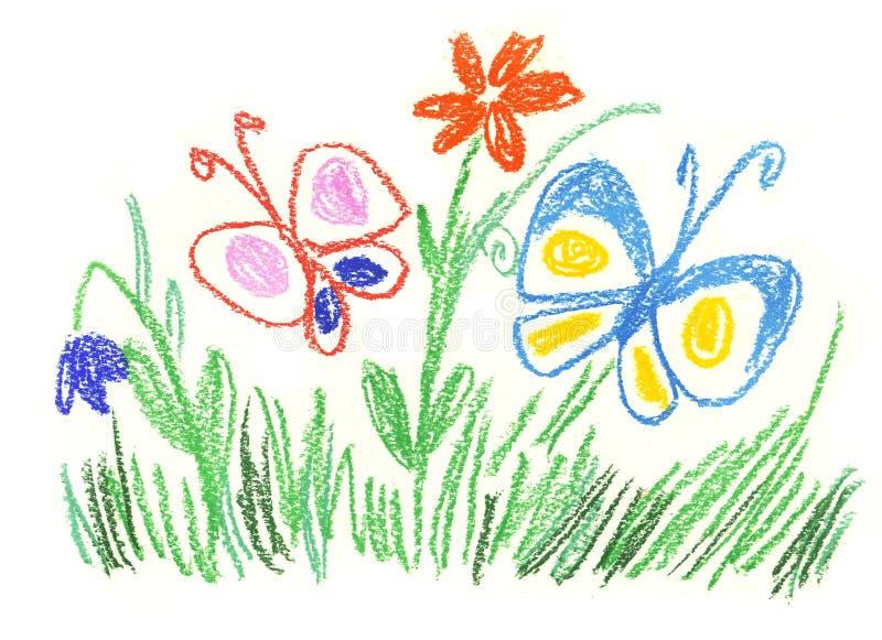 szczęśliwy łąkowy lato ilustracji