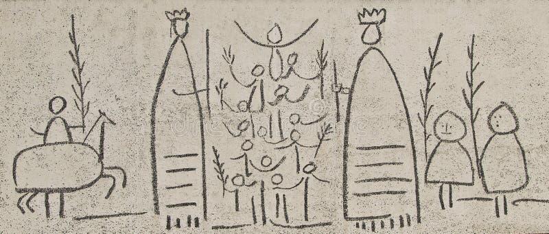 szczęśliwy ślub ilustracja wektor