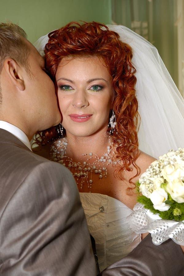 szczęśliwy ślubnych zdjęcie stock