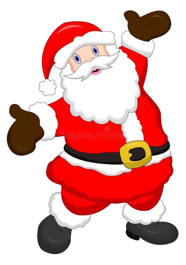 Szczęśliwy Święty Mikołaj - kreskówka stylowy charakter royalty ilustracja