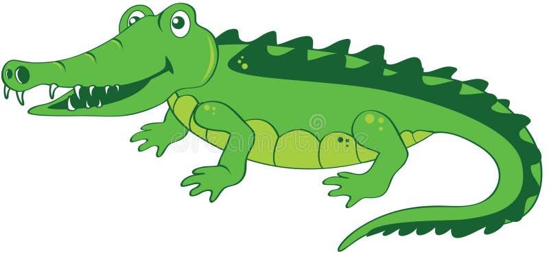 Szczęśliwy życzliwy krokodyl royalty ilustracja