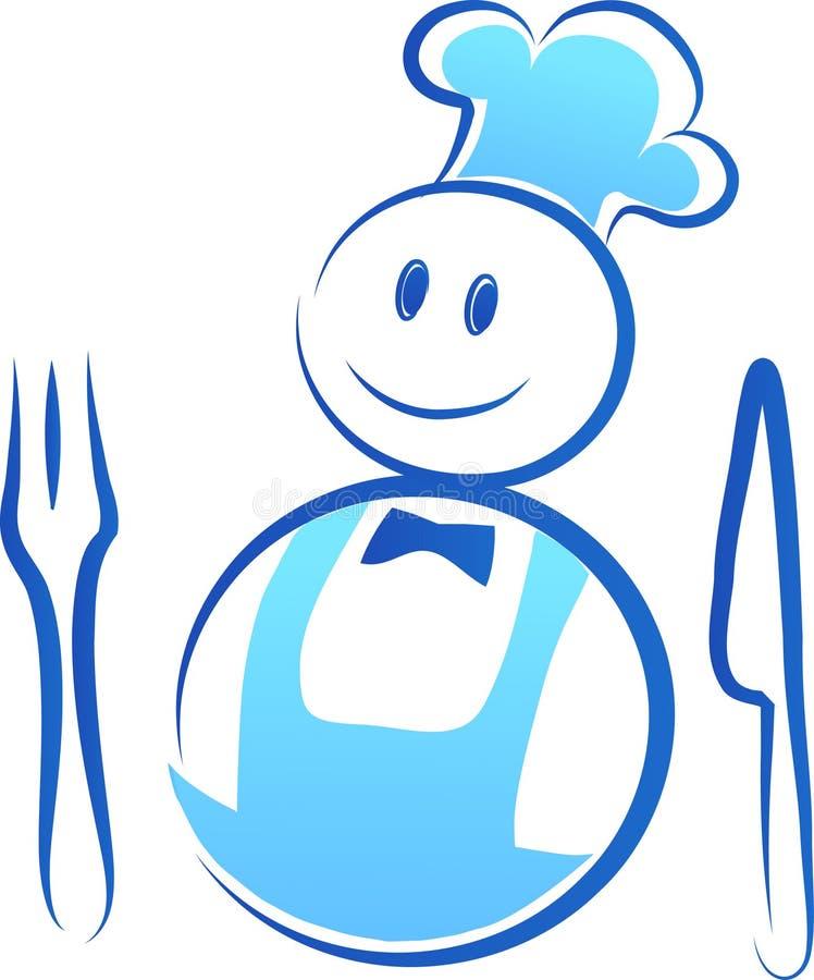 szczęśliwy (1) szef kuchni royalty ilustracja