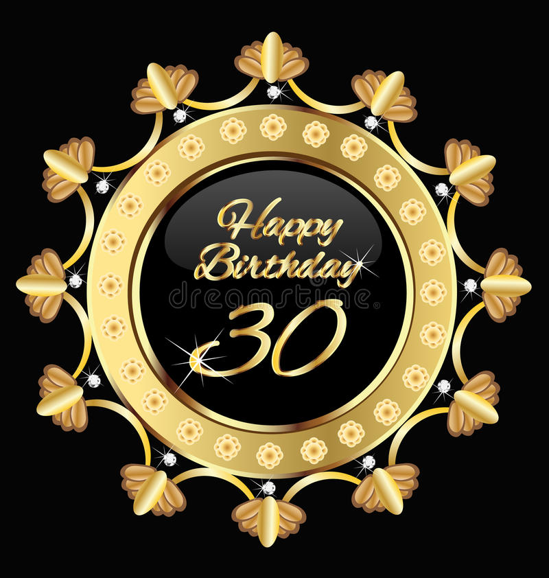 Szczęśliwy 30 urodziny ilustracja wektor