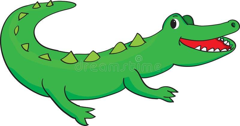 Szczęśliwy aligator ilustracja wektor