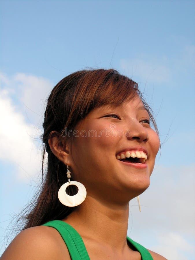szczęśliwy azjatykci panie śmiać zdjęcia stock
