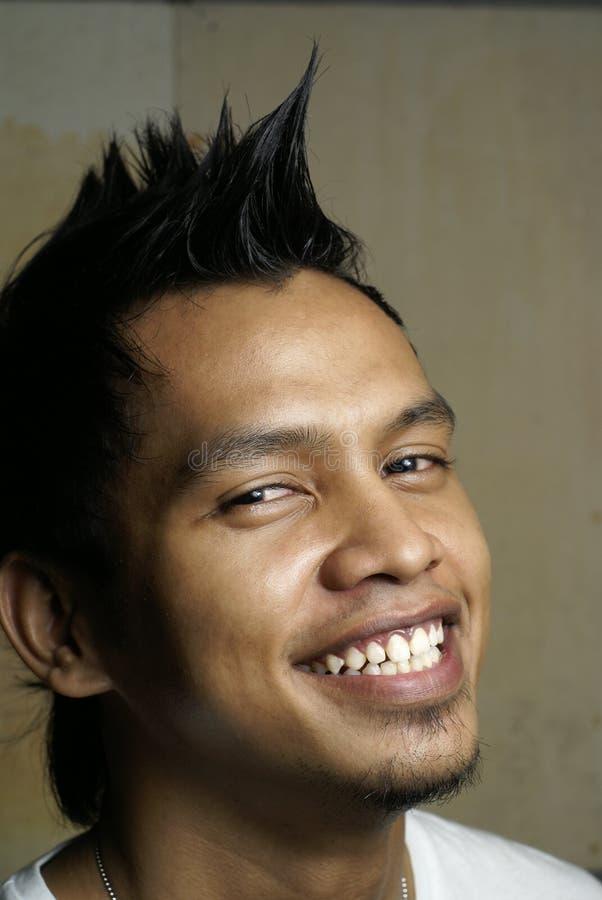 szczęśliwy azjatykci portret śmieciu fotografia royalty free