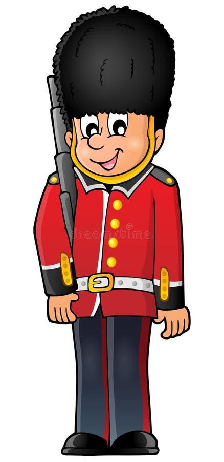Szczęśliwy Beefeater strażnik ilustracja wektor