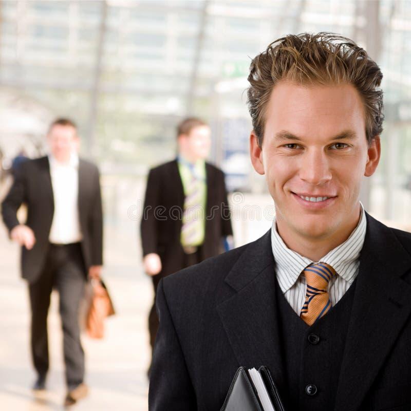 szczęśliwy biznesmena portret fotografia royalty free