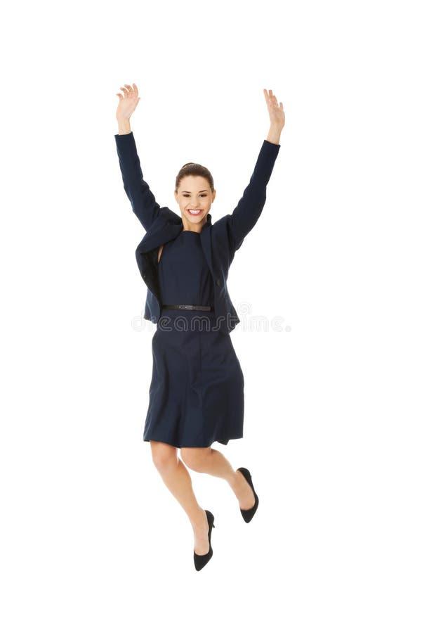 szczęśliwy bizneswoman obrazy stock