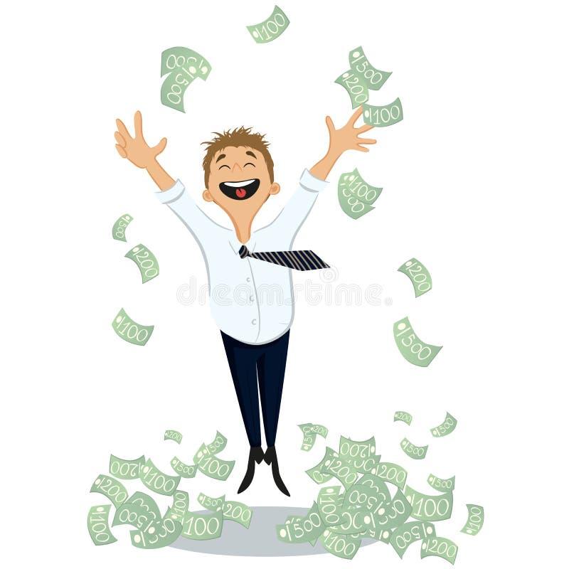 Szczęśliwy bogaty człowiek royalty ilustracja