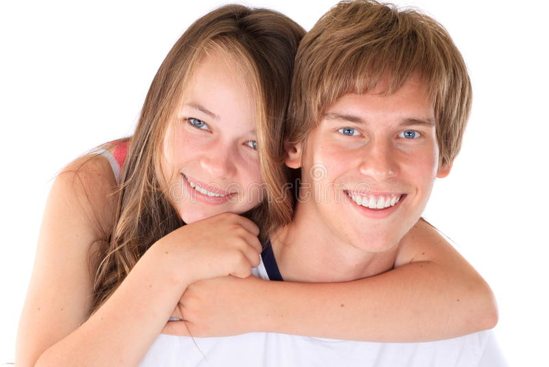 Szczęśliwy brat i siostra zdjęcie royalty free