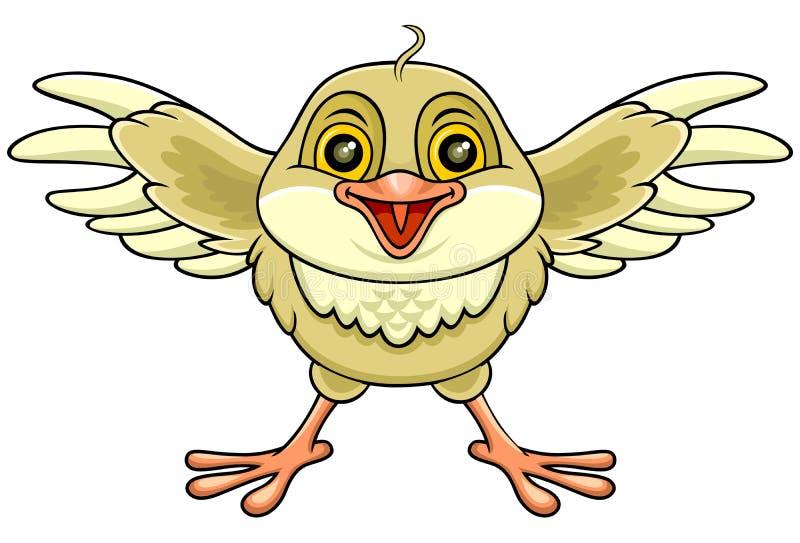 Szczęśliwy brown ptak royalty ilustracja