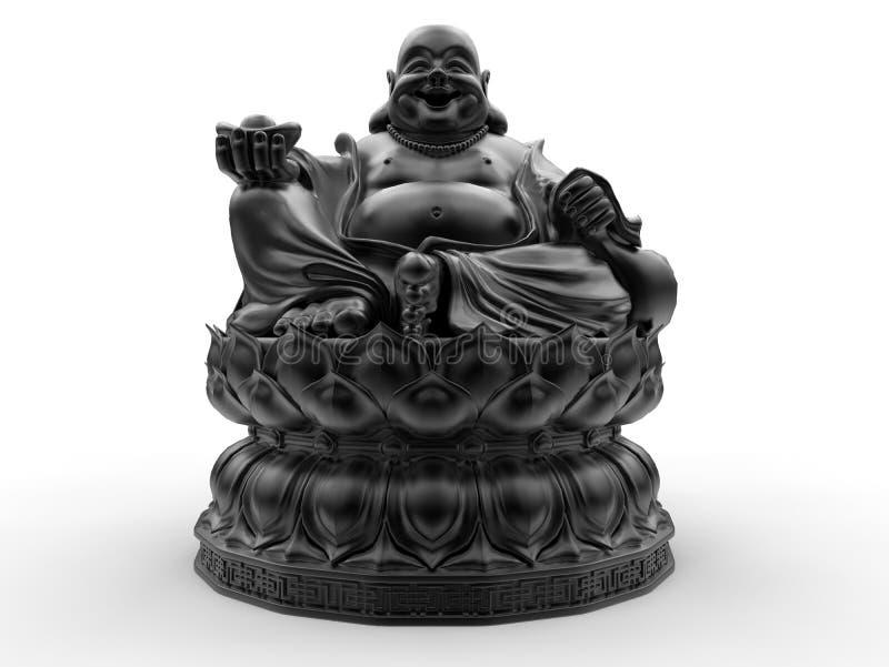 Szczęśliwy Buddha z ofiary ręką ilustracja wektor
