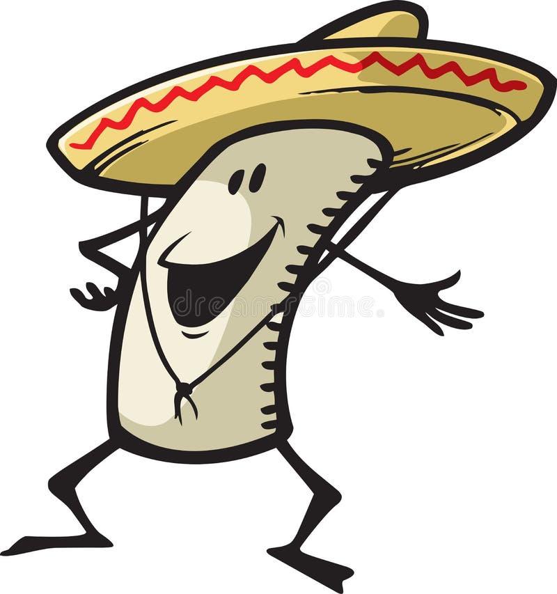 Szczęśliwy Burrito ilustracja wektor