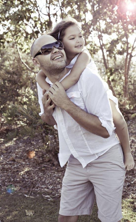 szczęśliwy córka ojciec obrazy stock