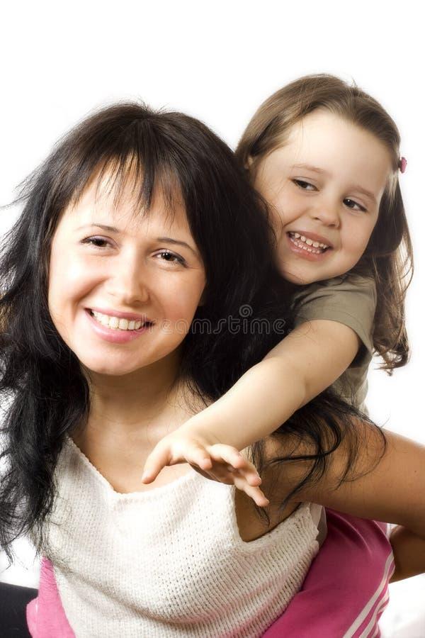 szczęśliwy córki mun zdjęcia royalty free