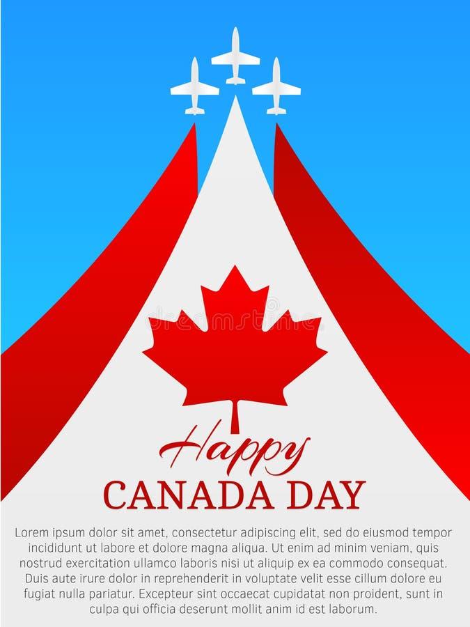 szczęśliwy Canada dzień ilustracja wektor