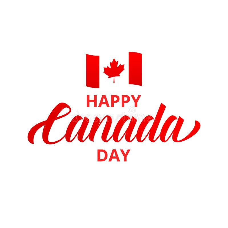 szczęśliwy Canada dzień Szczęśliwa Kanada dnia typografia ilustracji