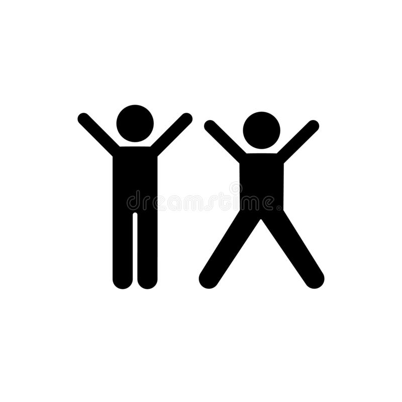 Szczęśliwy, chłopiec, sztuki ikona Element dziecko piktogram Premii ilo?ci graficznego projekta ikona Znaki i symbol kolekci ikon ilustracja wektor
