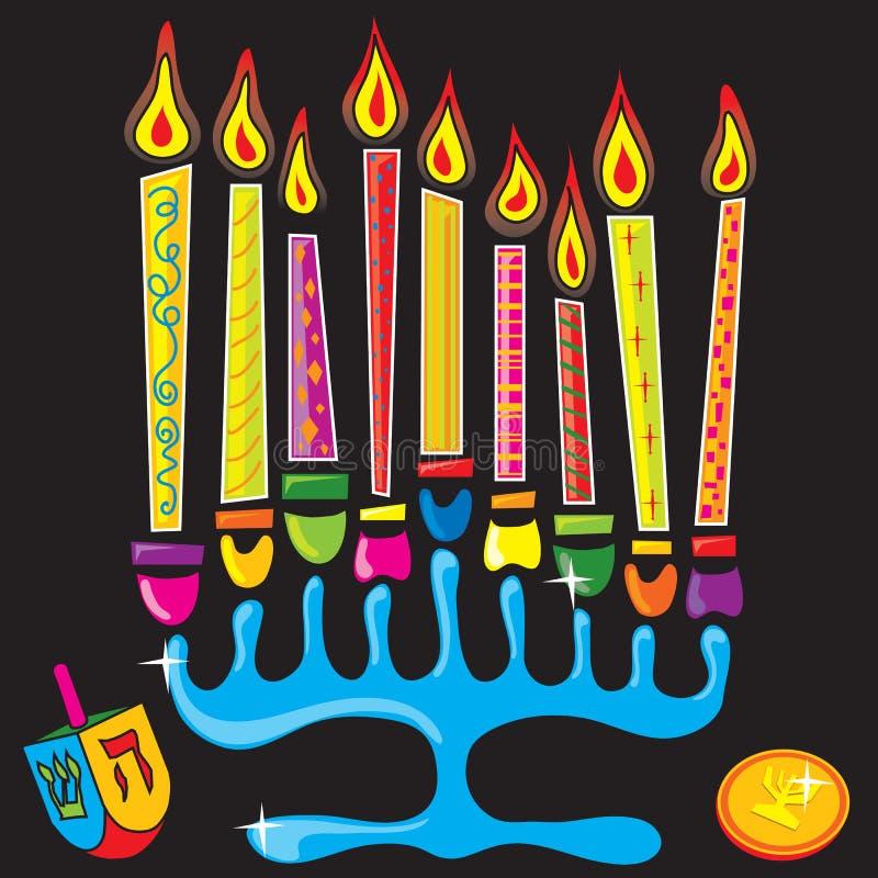 szczęśliwy chanukah menorah royalty ilustracja