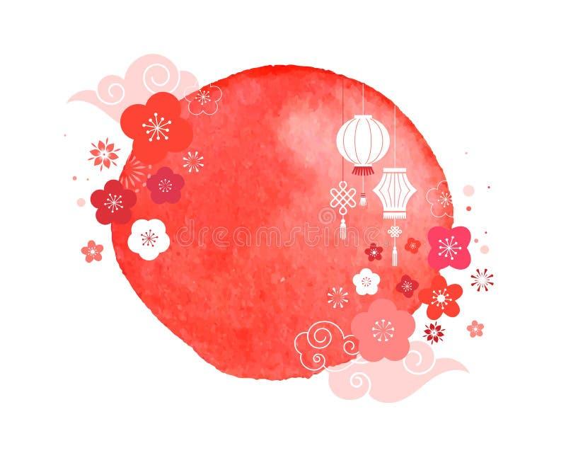 Szczęśliwy Chiński nowy rok 2019 rok świnia  ilustracji
