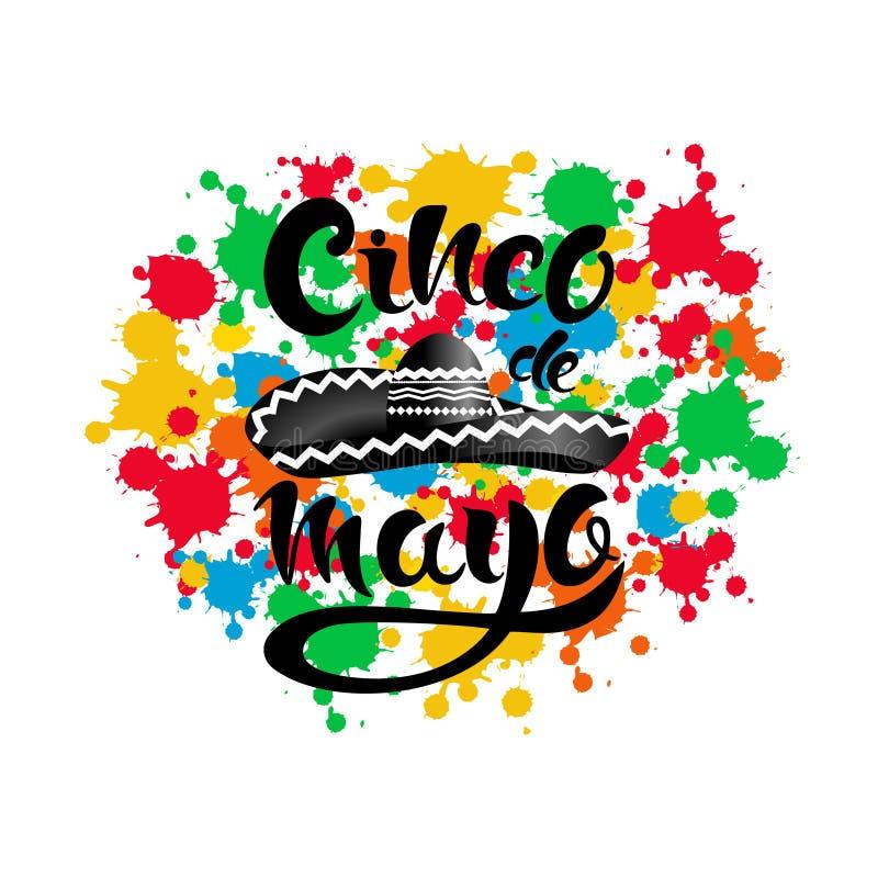 Szczęśliwy Cinco de Mayo plakat ilustracji