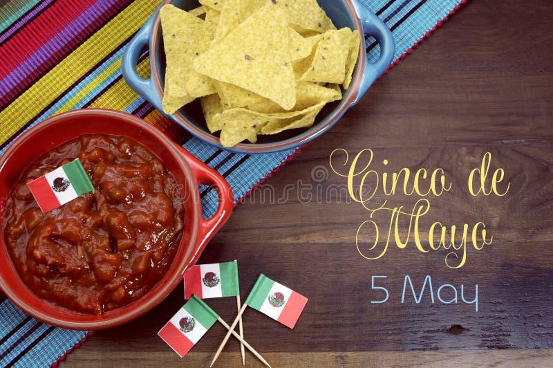 Szczęśliwy Cinco de Mayo, 5th Maj, przyjęcia stołowy świętowanie zdjęcie stock