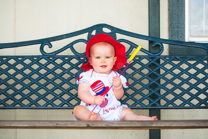 Szczęśliwy czwarty Lipa dziecko fotografia royalty free