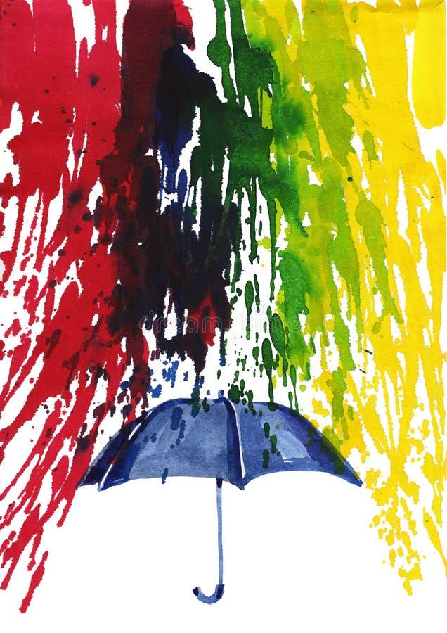 szczęśliwy deszcz ilustracji