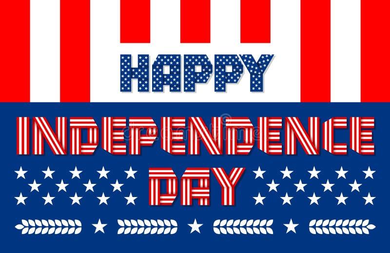 Szczęśliwy dnia niepodległości sztandar dla usa święta narodowego również zwrócić corel ilustracji wektora royalty ilustracja