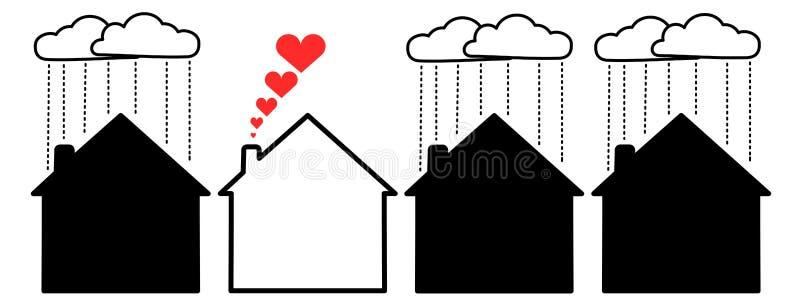 szczęśliwy dom ilustracji