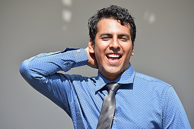 Szczęśliwy Dorosły biznesmen Jest ubranym krawat fotografia royalty free