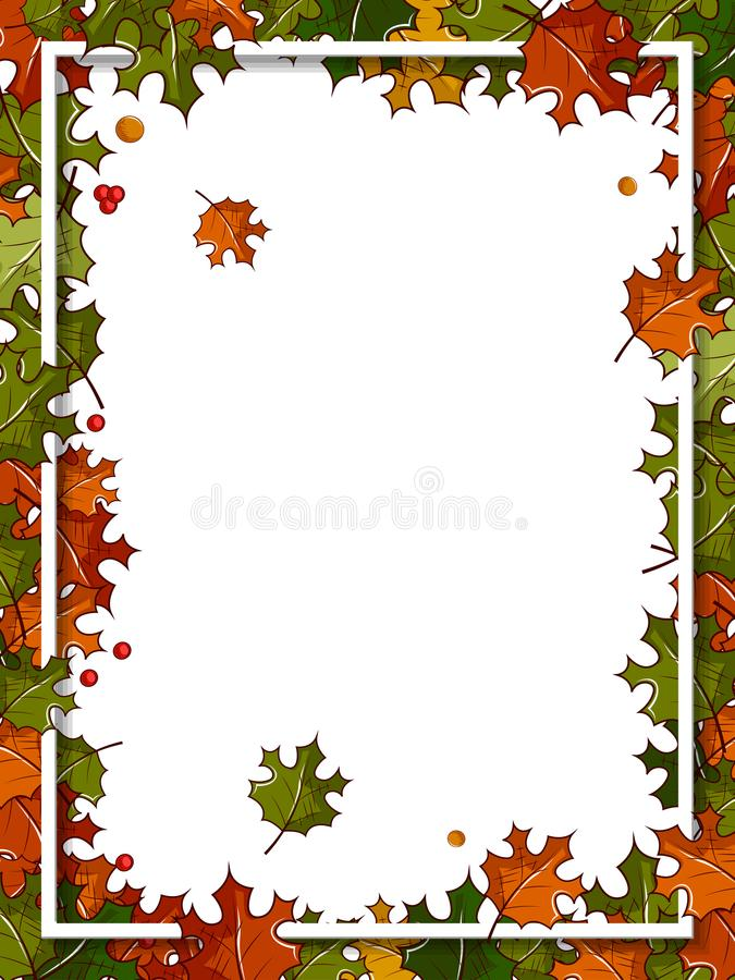 Szczęśliwy dziękczynienia tło z liśćmi klonowymi ilustracja wektor