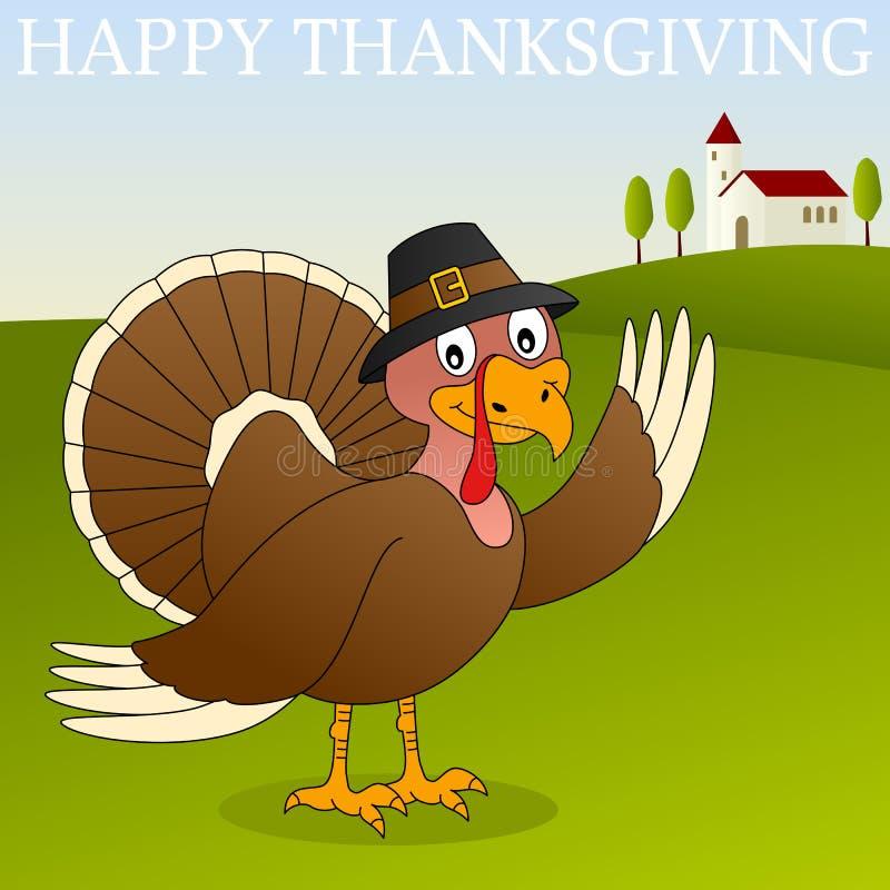 Szczęśliwy Dziękczynienie Turcja ilustracja wektor