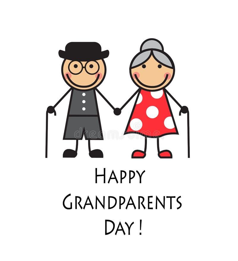 Szczęśliwy dziadka dzień ilustracja wektor