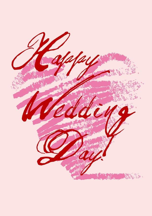 szczęśliwy dzień ślub s ilustracji