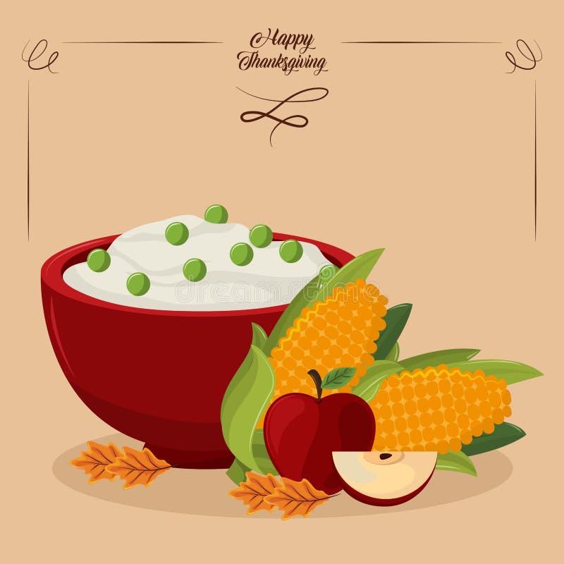 szczęśliwy dzień dziękczynienie ilustracji