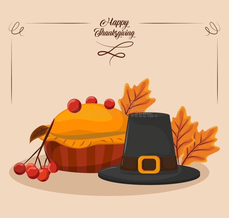 szczęśliwy dzień dziękczynienie royalty ilustracja