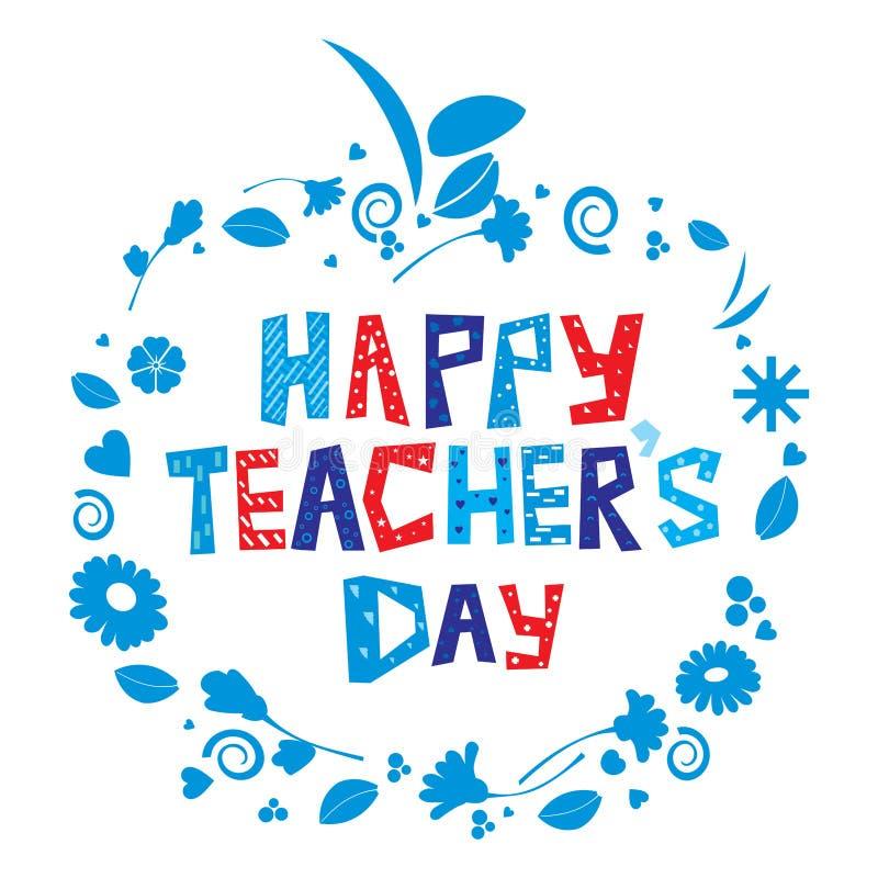 szczęśliwy dzień nauczyciel s ilustracji