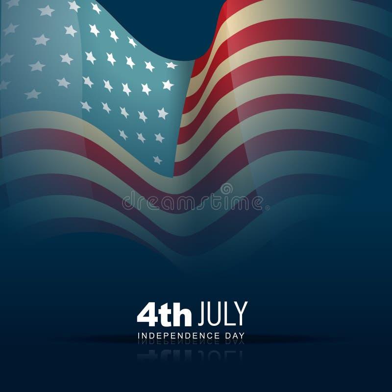 Szczęśliwy dzień niepodległości ilustracja wektor