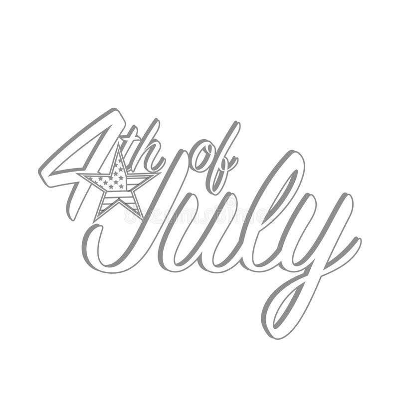 Szczęśliwy dzień niepodległości Lipa projekta grafiki pojęcie, Naprzód royalty ilustracja
